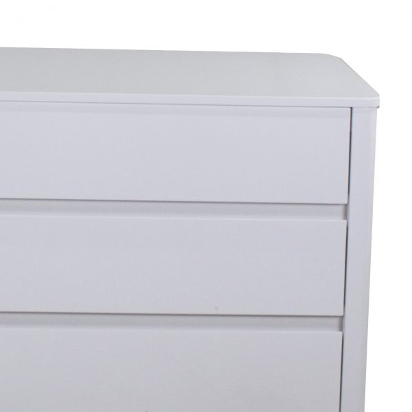 Sonja Double Dresser in White Lacquer, Close Up