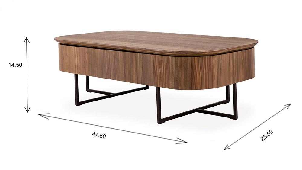 Spokane Coffee Table Dimensions