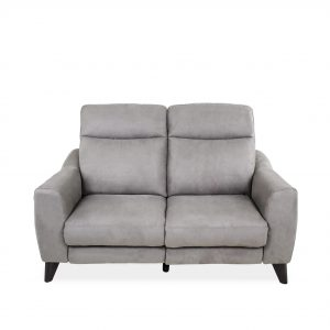 Alma Loveseat in Maldives Silver Grey, Front
