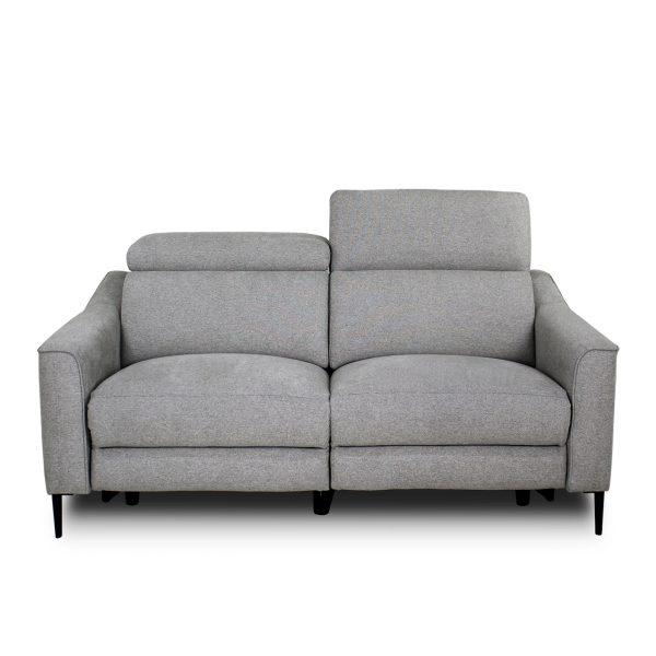 Comox Loveseat in Light Grey Fabric, Headrest Up