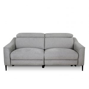 Comox Sofa in Light Grey Fabric, Front