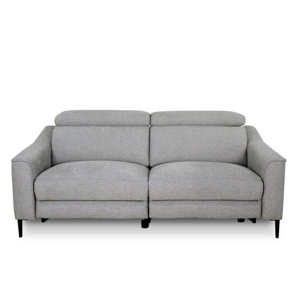 Comox Sofa in Light Grey Fabric, Front