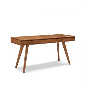 Greenington Currant Desk in Caramel on Angle