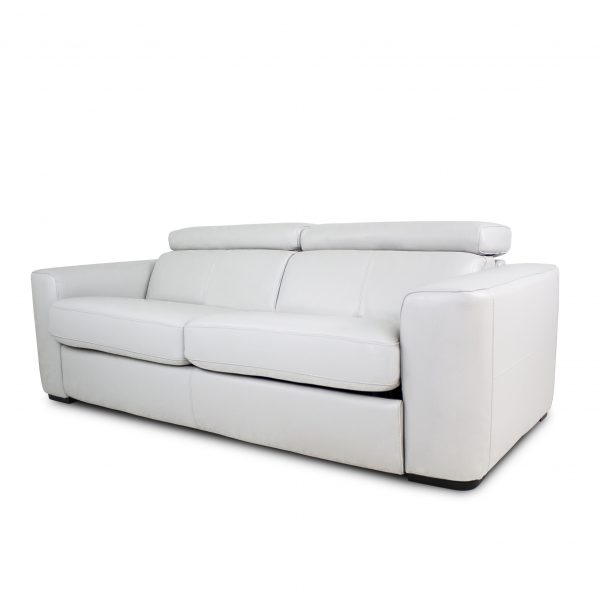 Dunbar Sofabed in New Club Frost Leather, Angle