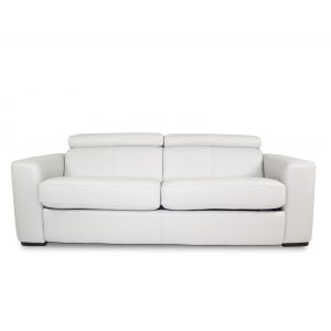Dunbar Sofabed in New Club Frost Leather, Front