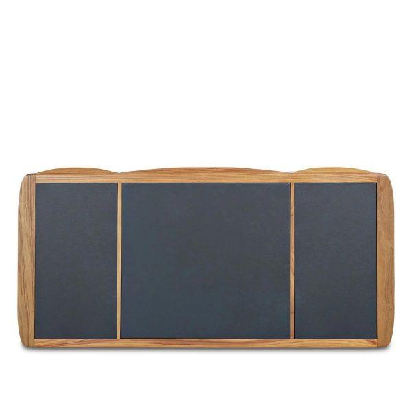 Sun Cabinet FS19 Desk in Teak, Leather Top