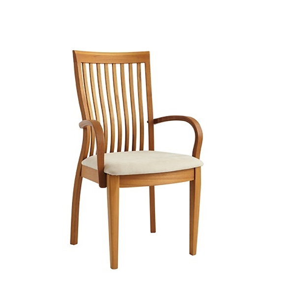 Sun Cabinet FS7 Armchair in Teak, Front Angle