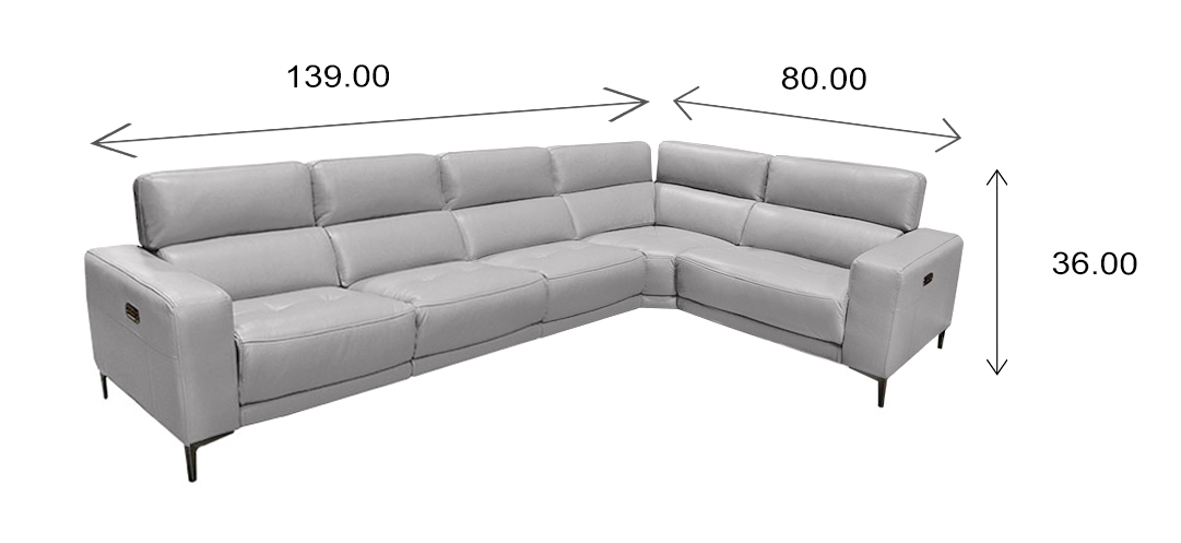 Fredrick Sectional Dimensions