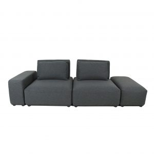 Freestyle Sofa in Dark Grey Fabric, Straight