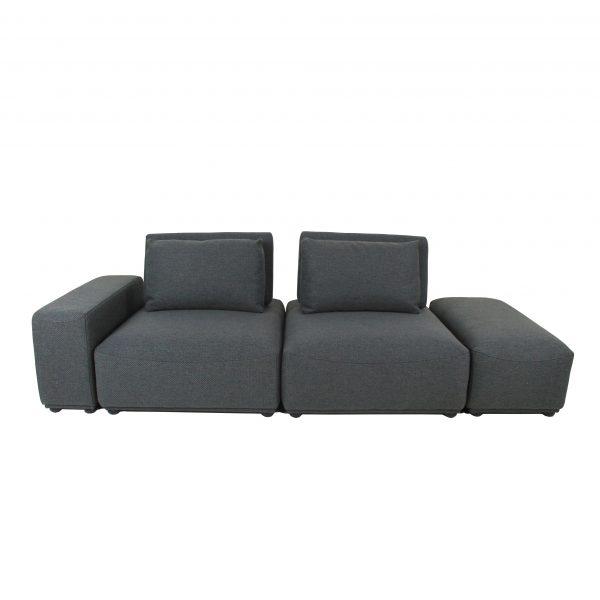 Freestyle Sofa in Dark Grey Fabric, Straight