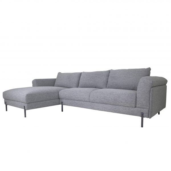 Hello Sectional in Grey Fabric, Angle, SL