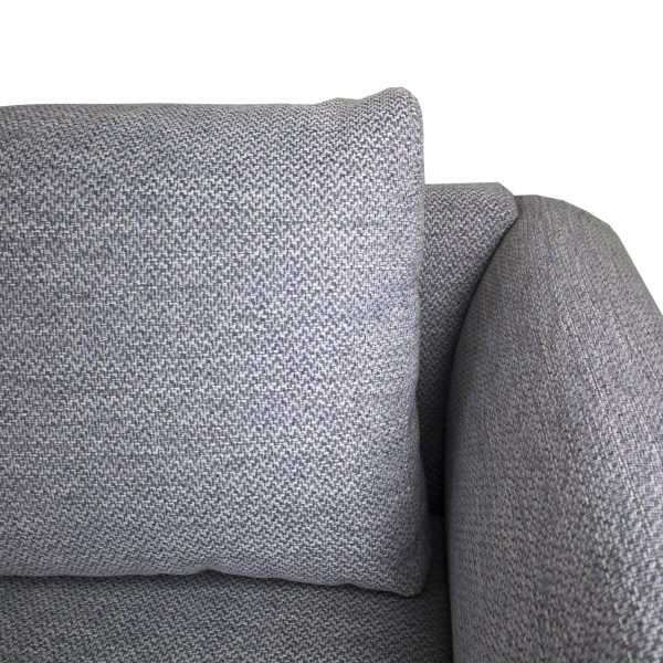 Hello Sectional in Grey Fabric, Close Up