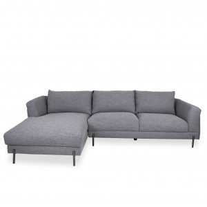 Hello Sectional in Grey Fabric, Straight, SL