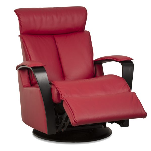 IMG Majesty Recliner in Trend Chili, Footrest Out