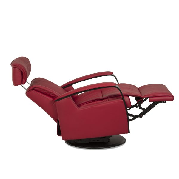 IMG Majesty Recliner in Trend Chili, Fully Reclined