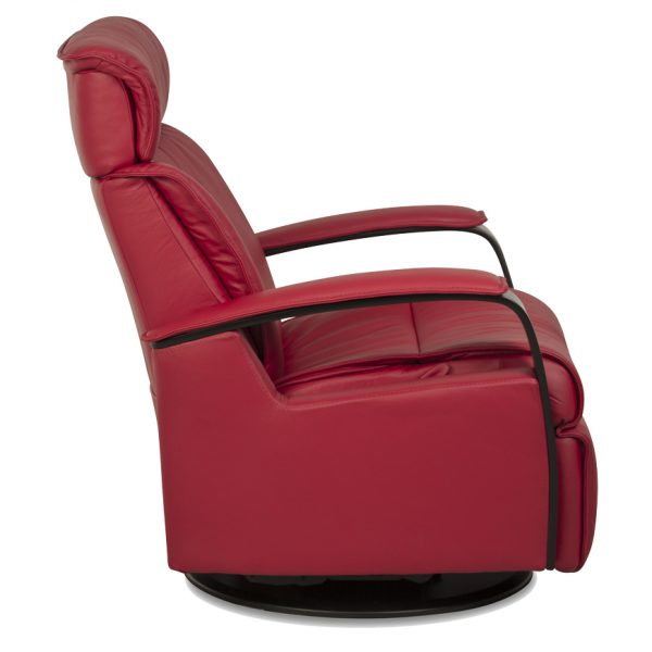 IMG Majesty Recliner in Trend Chili, Side Profile