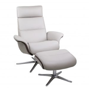 IMG Space 5100S ET Recliner and Ottoman in Trend Snow