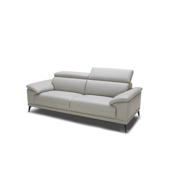 Jensen Loveseat in Light Grey M Leather, Angle