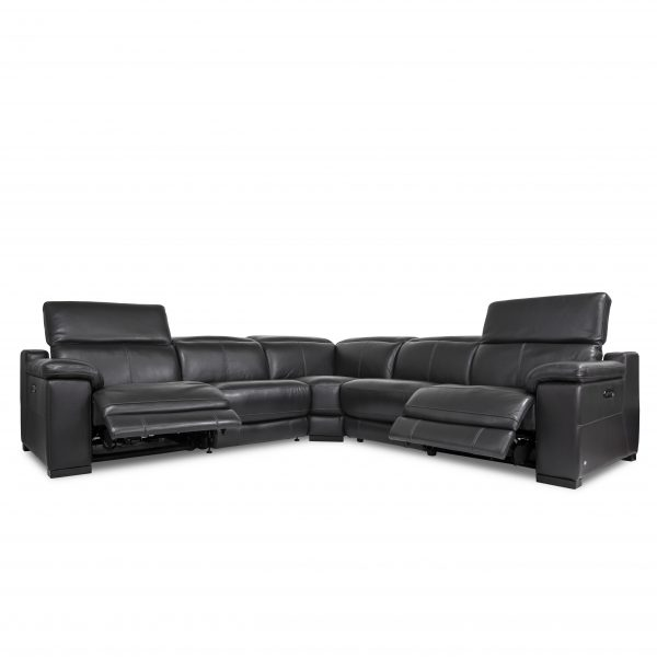 Lucy Sectional in Slate, Angle, Recline