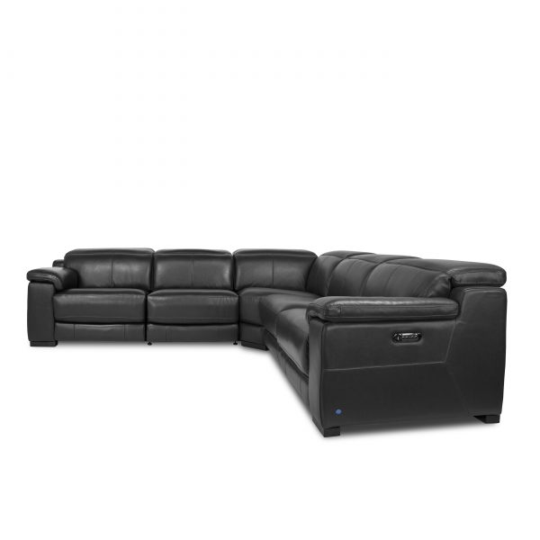 Lucy Sectional in Slate, Front