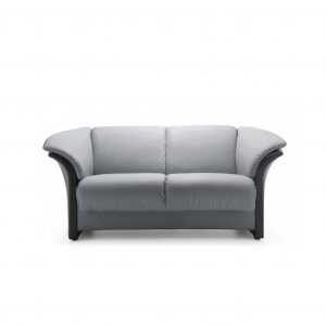 Ekornes® Manhattan Loveseat in Paloma Grey Front