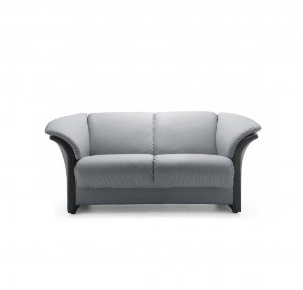 Ekornes® Manhattan Loveseat in Paloma Grey Front