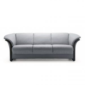 Ekornes® Manhattan Sofa in Paloma Silver Grey with Wenge Wood