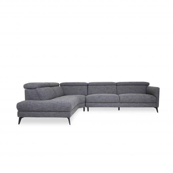 Marki Sectional in Dark Grey Fabric C783, Straight, SL