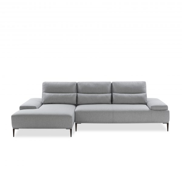 Motion Sectional in Grey Fabric, SL