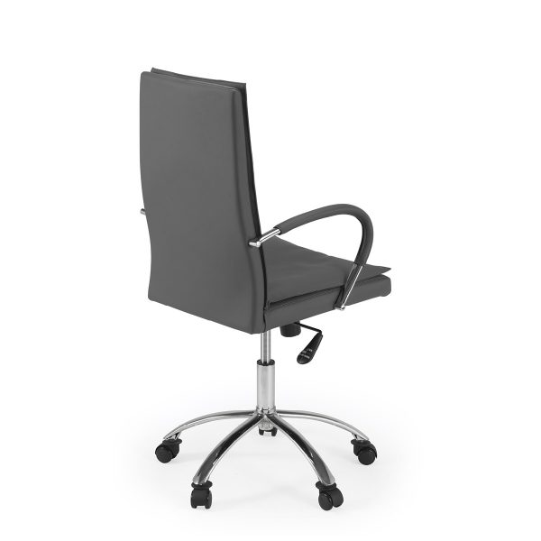 Softy Office Chair in Grey Leather, Back