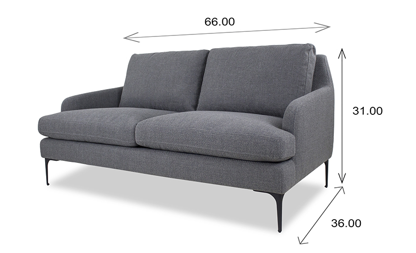 Wallis Loveseat Dimensions