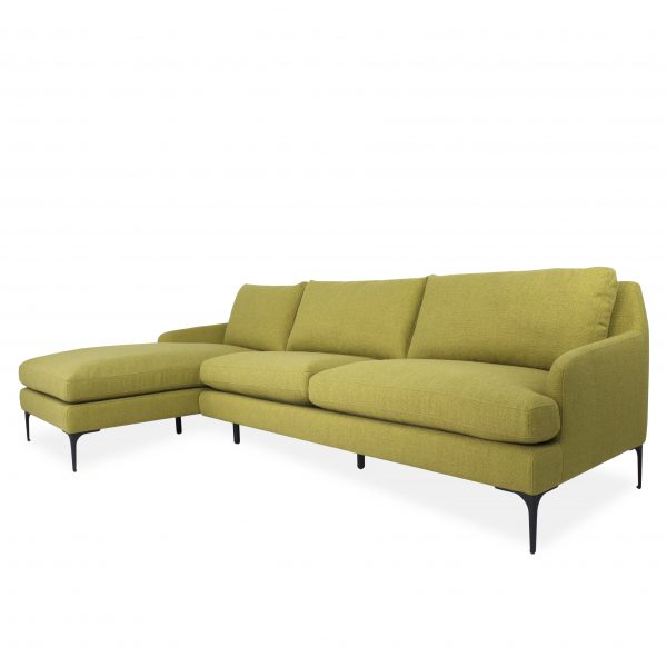 Wallis Sectional in Mustard Fabric, Angle, SL
