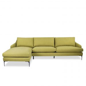 Wallis Sectional in Mustard Fabric, Straight, SL