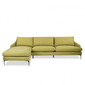 Wallis Sectional in Mustard Fabric, Straight, SL