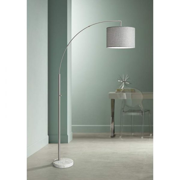 Bowery Arc Floor Lamp in Living Room