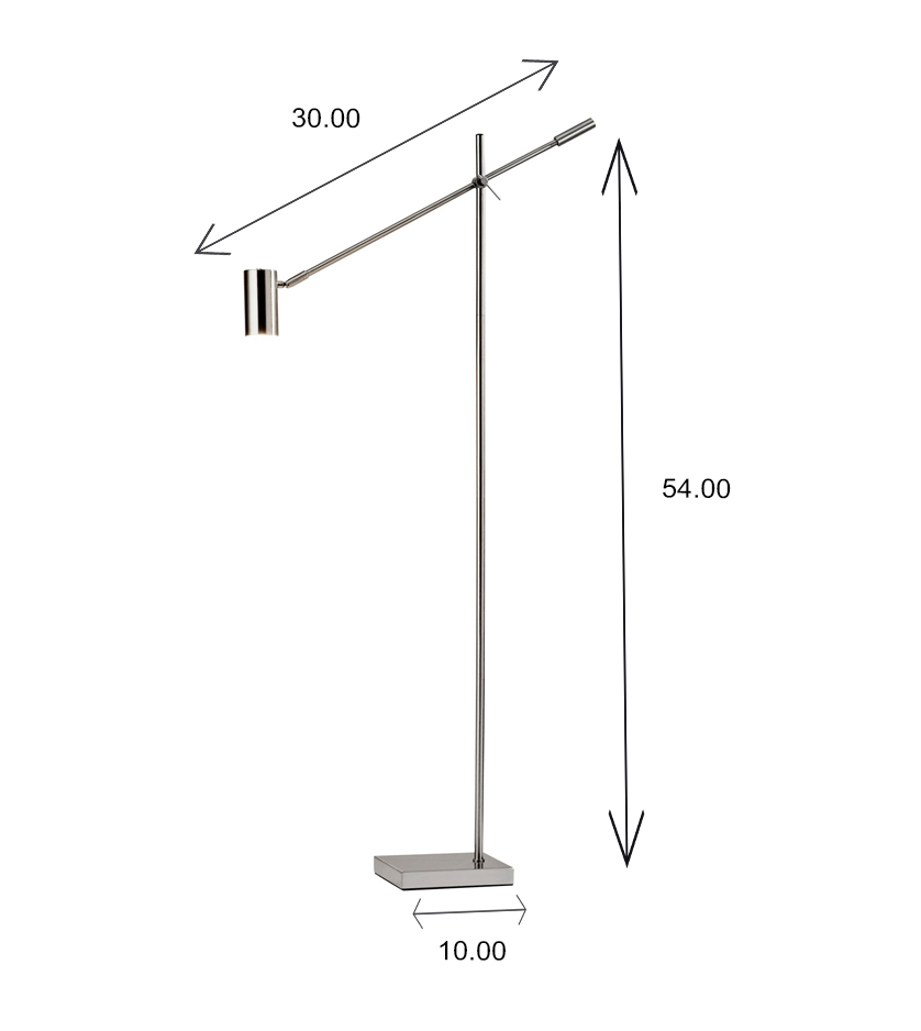 Collette LED Floor Lamp Dimensions