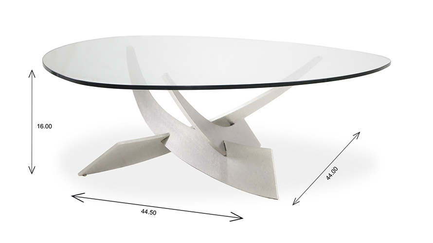 Elite Modern Reef Coffee Table Dimensions