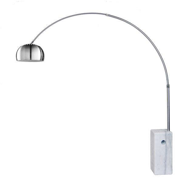 FL158B Floor Lamp with a White Marble Base