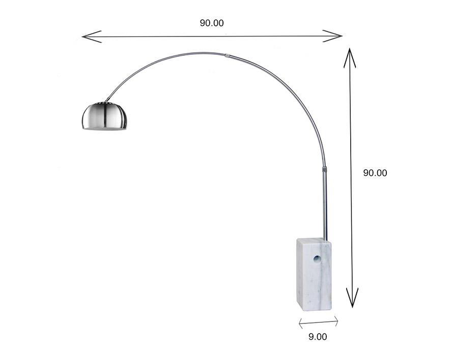 FL158B Floor Lamp Dimensions
