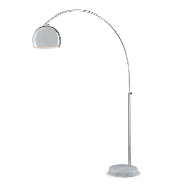 FL158T Floor Lamp with a White Marble Base