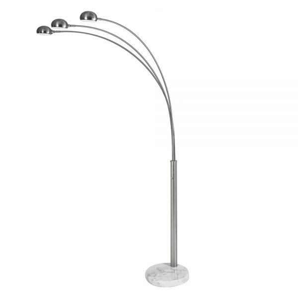 FL160/3 Floor Lamp with a White Marble Base