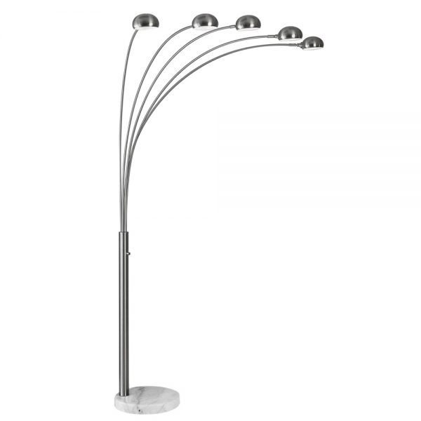 FL160/5 Floor Lamp with a White Marble Base, 2
