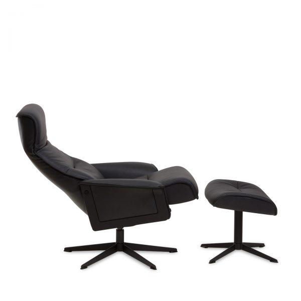 IMG Scandi 1000 Recliner in Trend Tuxedo, Side Profile, Reclined