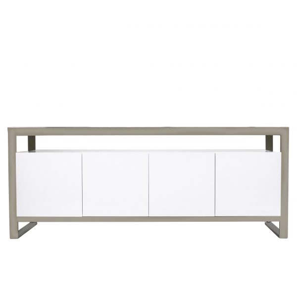 Miami Sideboard in White Lacquer, Front