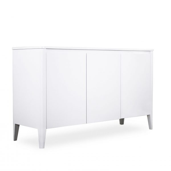 Norman Small Sideboard in White, Angle