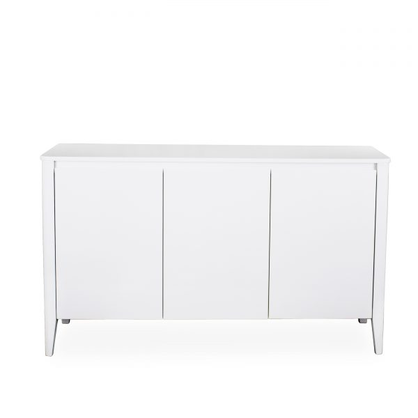 Norman Small Sideboard in White, Front