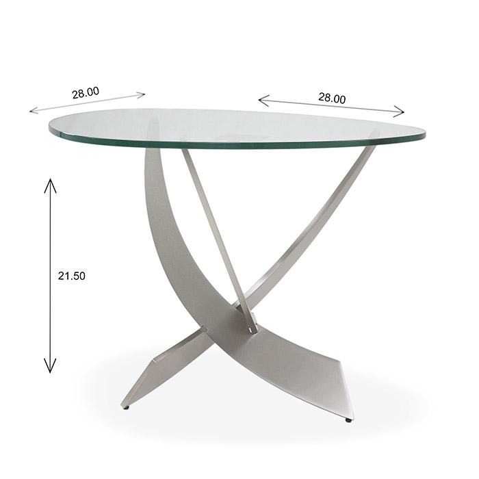 Elite Modern Reef End Table Dimensions