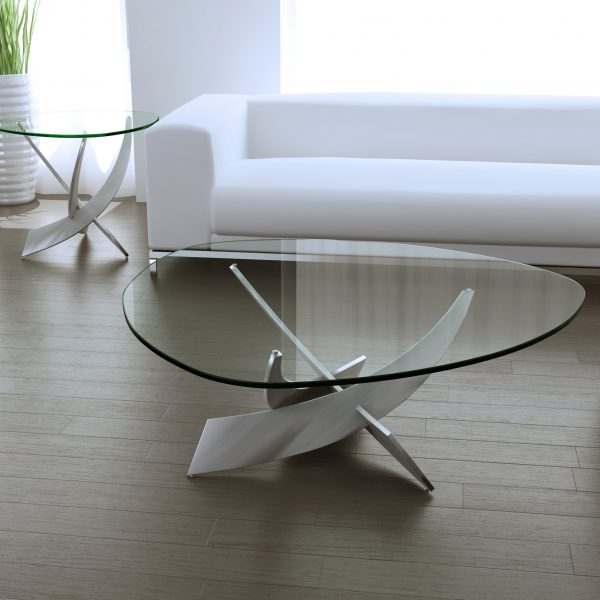 Elite Modern Reef Coffee Table and End Table, Couch