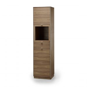 Skovby SM914 Display Cabinet in Oiled Walnut, Front