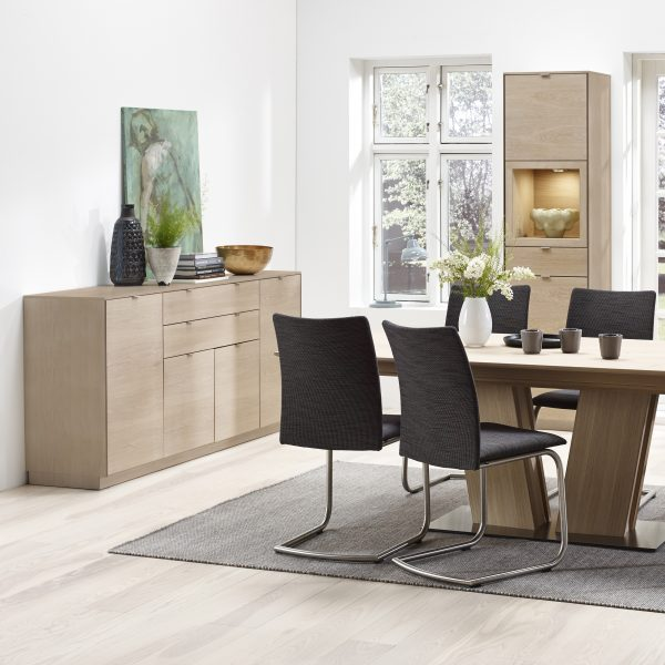 Skovby SM942 Sideboard in White Oak in Dining Room